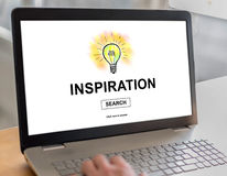 Inspiration concept on a laptop Stock Images