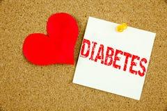 Inspiration conceptuelle de légende des textes d'écriture de main montrant le concept de diabète pour l'insuline médicale de la m Photographie stock