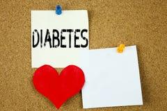 Inspiration conceptuelle de légende des textes d'écriture de main montrant le concept de diabète pour l'insuline médicale de la m Photographie stock libre de droits