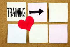 Inspiration conceptuelle de légende des textes d'écriture de main montrant le concept de formation pour l'étude de la connaissanc Photos stock