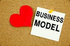 Inspiration conceptuelle de légende des textes d'écriture de main montrant le concept de modèle économique pour la stratégie et l Images stock