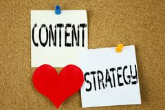 Inspiration conceptuelle de légende des textes d'écriture de main montrant le concept satisfait de stratégie pour la gestion de l Photos stock
