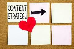 Inspiration conceptuelle de légende des textes d'écriture de main montrant le concept satisfait de stratégie pour la gestion de l Photographie stock libre de droits