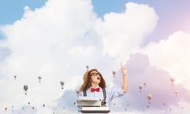 Inspiration créative de jeune auteur féminin Image libre de droits