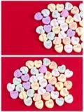 Inspiration d'amour de sucrerie de coeurs de Valentine Photographie stock libre de droits