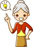Inspiration der älteren Frauen lizenzfreie abbildung