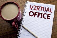 Inspiration för överskrift för handhandstiltext som visar det faktiska kontoret Affärsidé för online-vägen av att arbeta som är s arkivbild