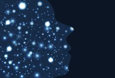 Inspiration för storm för elektrisk hjärna idérik, tänkande networ för hjärna royaltyfri illustrationer