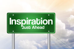 Inspiration Green Road Sign Royalty Free Stock Photo
