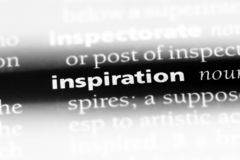 Inspiration. Word in a dictionary.  concept stock photography