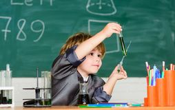 Inspiration for investigations. Kid study biology chemistry. Basic knowledge primary school education. Educational stock image
