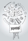 Inspiration message with illustrations Stock Photography