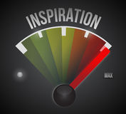 Inspiration meter illustration design Stock Photography