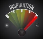 Inspiration meter illustration design Stock Photography