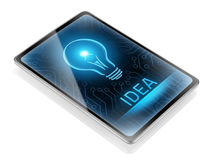 Inspiration. Modern tablet displaying a new idea Royalty Free Stock Photos