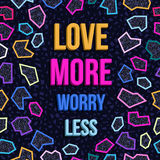 Inspiration motivation love quote 80s background stock image