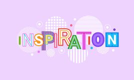 Inspiration And Motivation Web Banner Abstract Creative Template Background vector illustration