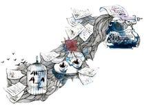 Inspiration. Novel writing on ancient a typewriter Royalty Free Stock Image