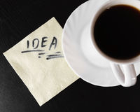 Inspiration over a cup of coffee Stock Photography