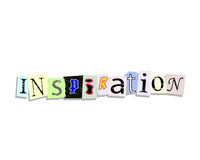 Inspiration Paper Letters Royalty Free Stock Images