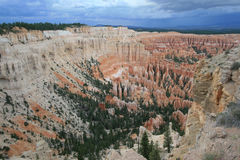 Inspiration Point. View of Inspiration Point in Bryce Canyon in Utah royalty free stock photos