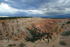 Inspiration Point. View of Inspiration Point in Bryce Canyon in Utah royalty free stock images