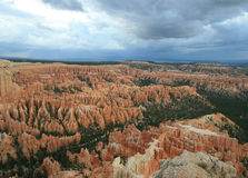 Inspiration Point. View of Inspiration Point in Bryce Canyon in Utah stock photos