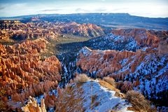 Inspiration Point Bryce Canyon UT Royalty Free Stock Images