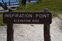 Inspiration Point Overlook Sign Royalty Free Stock Image