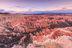 Inspiration Point at sunrise, Bryce Canyon National Park, Utah, Royalty Free Stock Image