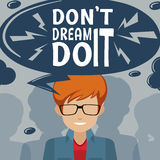 Inspiration poster with text Stock Photography