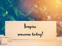 Inspiration quote Royalty Free Stock Photos