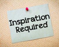 Inspiration Required Stock Images
