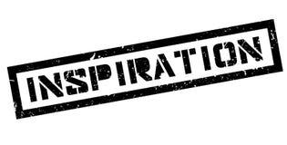 Inspiration rubber stamp. Inspiration, rubber stamp on white. Print impress overprint Stock Photos