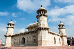 Agra : Itimad-ud-daula. Itimad-ud-daula Tomb is a Marble tomb  made by Emperor Jahangirs queen, Nurjahan, in the memory of her father Mirza Ghias Beg. This was Royalty Free Stock Photos