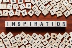Inspiration word concept royalty free stock image