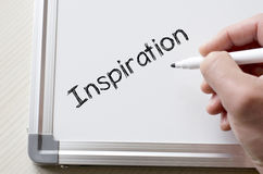 Inspiration written on whiteboard royalty free stock photography