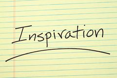 Inspiration On A Yellow Legal Pad Royalty Free Stock Images
