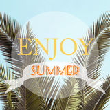 Inspirational Background Poster Design / Enjoy Summer Stock Photo