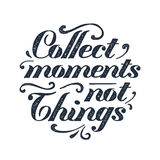 Inspirational black vector lettering on white background. Royalty Free Stock Photos