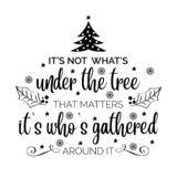 Inspirational Christmas quote stock illustration