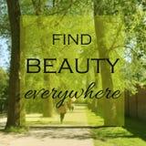 Inspirational citaat Royalty-vrije Stock Foto's