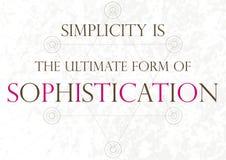 Inspirational citaat - Da Vinci Stock Afbeelding