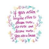 Inspirational citaat door Abraham Lincoln Stock Foto's