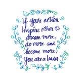 Inspirational citaat door Abraham Lincoln Royalty-vrije Stock Fotografie