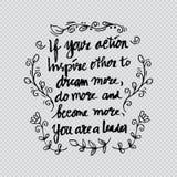 Inspirational citaat door Abraham Lincoln Royalty-vrije Stock Afbeelding