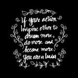 Inspirational citaat door Abraham Lincoln Stock Afbeelding