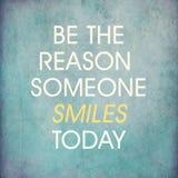 Inspirational citaat door onbekend op blauwe grungeachtergrond Stock Fotografie