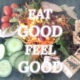 Inspirational citaat op vage saladeachtergrond stock afbeeldingen