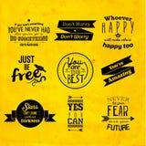 Inspirational en aanmoedigend citaat vectorontwerp Royalty-vrije Stock Fotografie